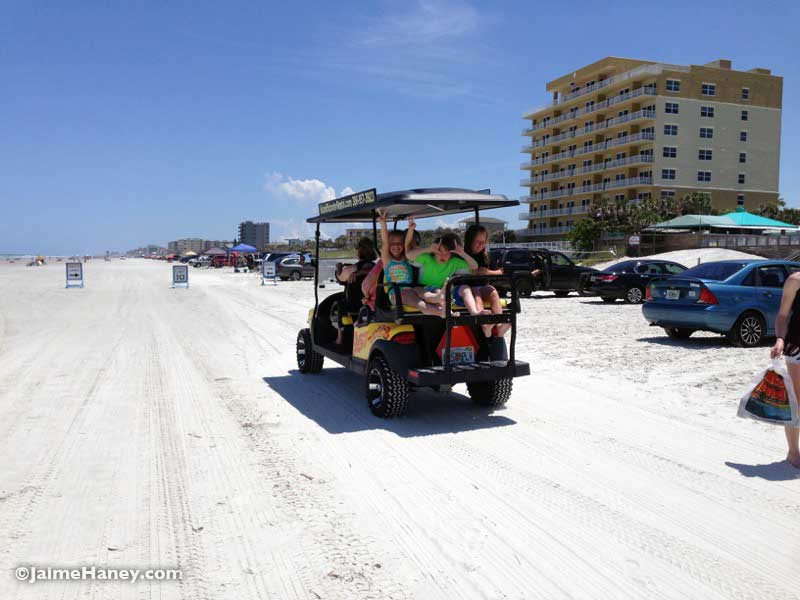 Beach cart ride