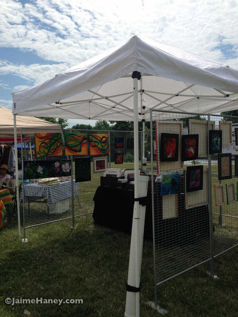 My art booth at Mt. Vernon Indiana Riverbend Arts Festival