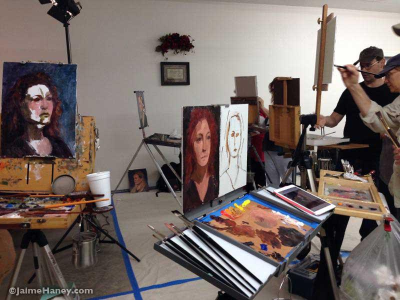 Artist Terry Watson's double portrait