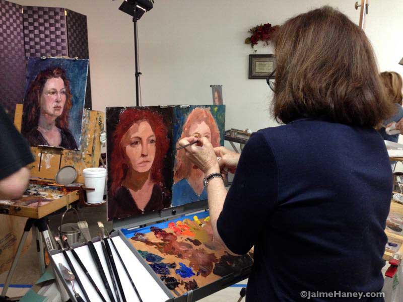 Artist Terry Watson at work