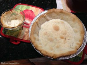 pie crust out of oven