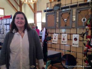 Kat Howell at her jewelry booth