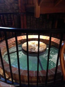 water feature on the main floor in the Rapp-Owen Granary