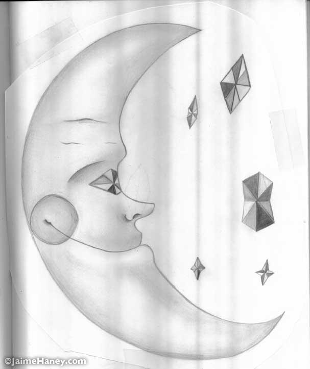 Moon Man drawing