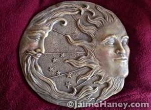 My newest addition to my garden - a celestial plaque.