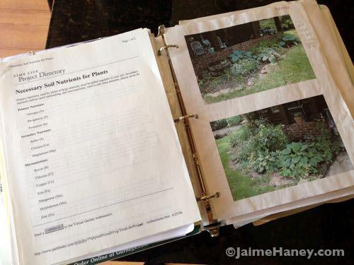 Garden Journal Binder
