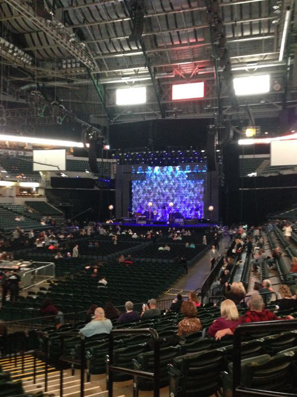 Inside Bankers Field House before the Stevie Nicks 24K Gold Tour with The Pretenders