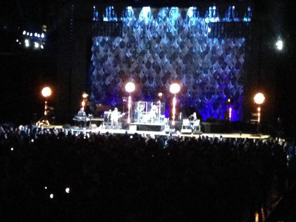 The Pretenders on the stage at Bankers Field House Stadium