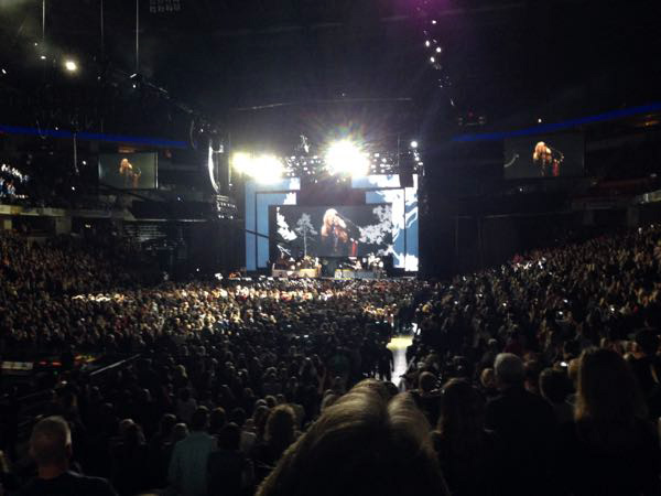 Crowded Stevie Nicks concert