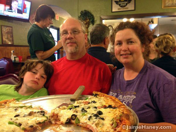 Dining at Alberto's Pizzeria and Italian