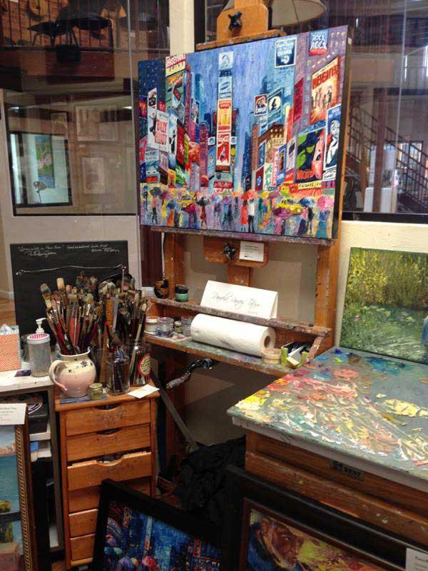 artist's work station