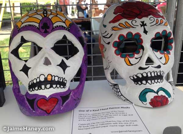 Dia de los Muertos sugar skull masks