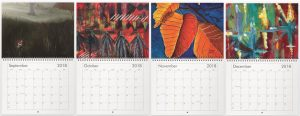 Art Calendars. Paintings for September, October, November and December