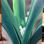 Clivia flower buds painting
