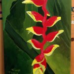 Heliconia flower painting