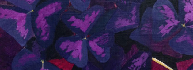 Day 19 Purple Oxalis Plant Painting