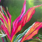 Colorful Ti Plant painting