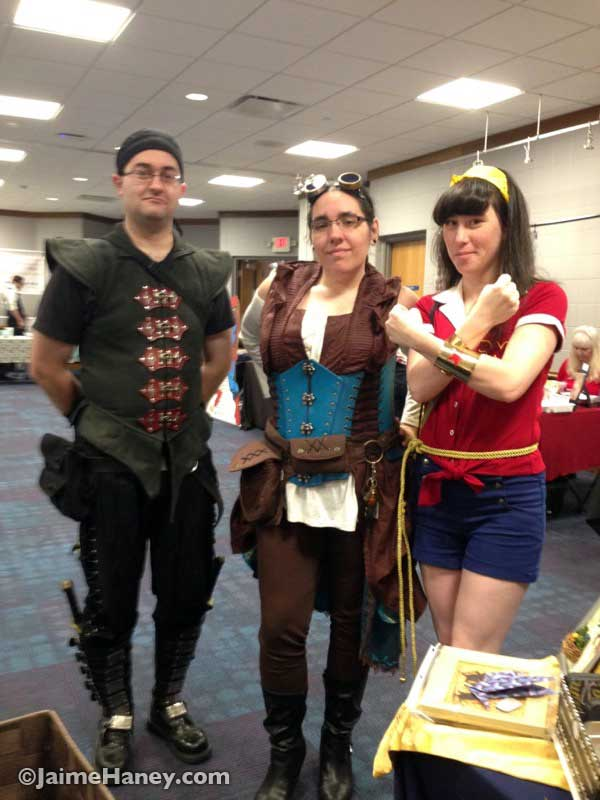 Cosplay characters at Mini Con at Alexandrian Public Library
